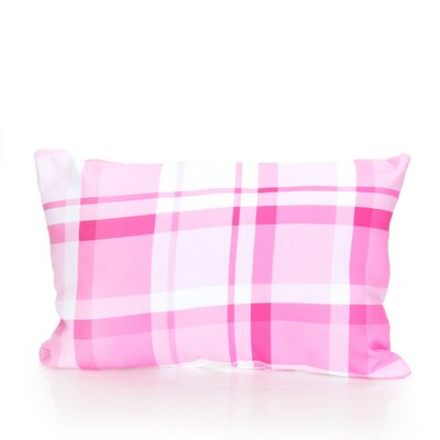 Plaid Outdoor Lumbar Pillow Color: Fuchsia