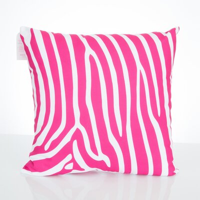 Zebra Outdoor Throw Pillow Size: 26 H x 26 W x 2 D, Color: Fuchsia