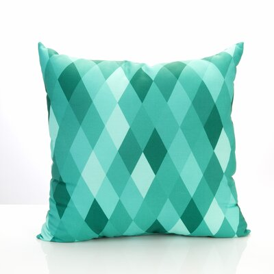 Harlequin Outdoor Throw Pillow Size: 20 H x 20 W x 2 D, Color: Mint