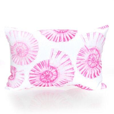 Nautilus Shell Outdoor Lumbar Pillow Color: Fuchsia