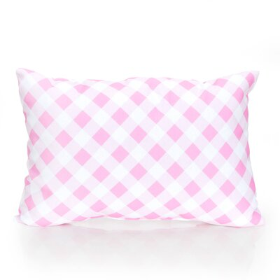 Check Plaid Outdoor Lumbar Pillow Color: Fuchsia