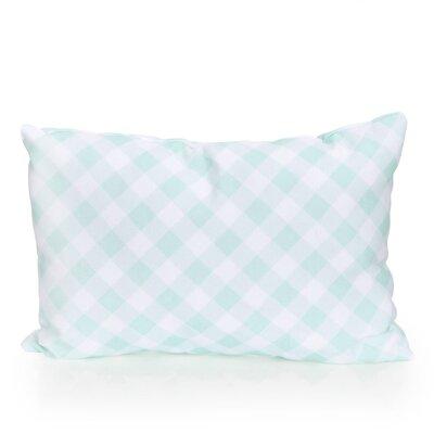 Check Plaid Outdoor Lumbar Pillow Color: Mint