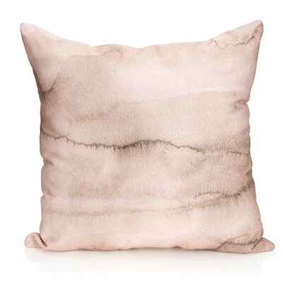 Watercolor Stripe Outdoor Throw Pillow Size: 20 H x 20 W x 2 D, Color: Brown