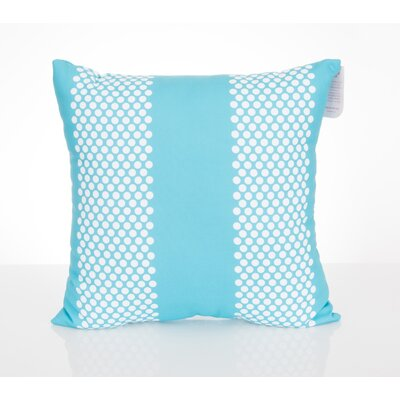 Bullseye Outdoor Throw Pillow Size: 20 H x 20 W x 2 D, Color: Turquoise