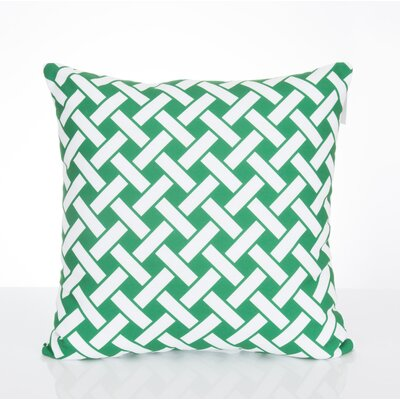 Lattice Outdoor Throw Pillow Size: 20 H x 20 W x 2 D, Color: Kelly Green