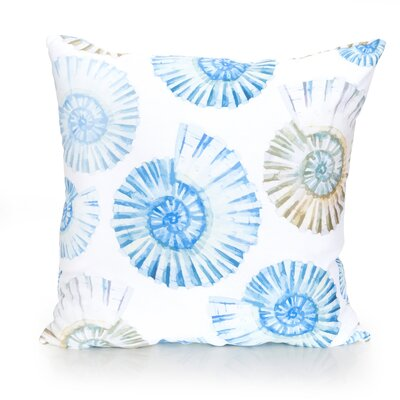Nautilus Shell Outdoor Throw Pillow Size: 26
