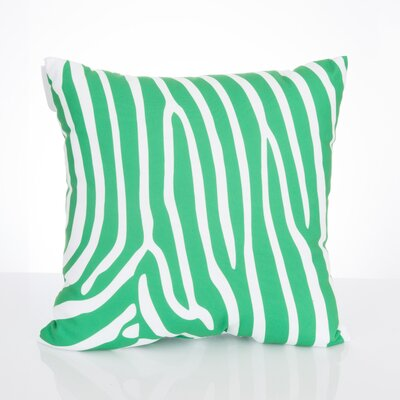 Zebra Outdoor Throw Pillow Size: 26 H x 26 W x 2 D, Color: Kelly Green