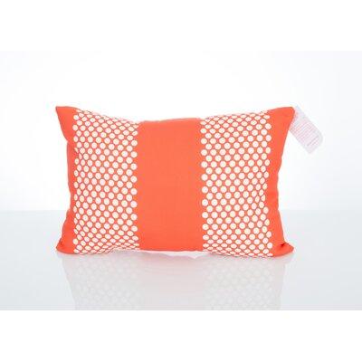 Bullseye Outdoor Lumbar Pillow Color: Orange