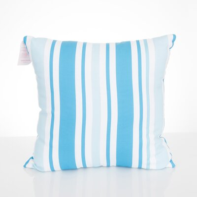 Vertical Stripe Outdoor Throw Pillow Size: 20 H x 20 W x 2 D, Color: Turquoise