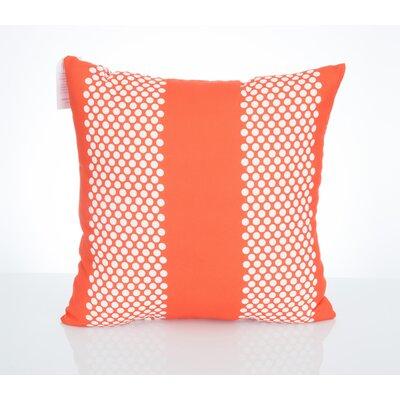 Bullseye Outdoor Throw Pillow Size: 20 H x 20 W x 2 D, Color: Orange
