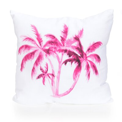 Palm Tree Outdoor Throw Pillow Size: 20 H x 20 W x 2 D, Color: Fuchsia