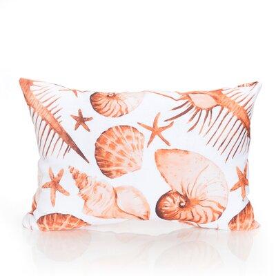 Sea Life Outdoor Lumbar Pillow Color: Orange