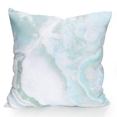 Quartz Outdoor Throw Pillow Size: 26 H x 26 W x 2 D, Color: Pale Blue Mix