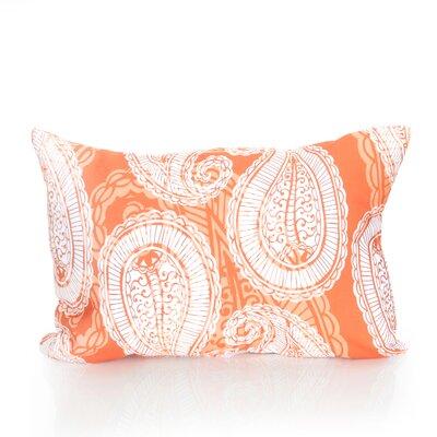 Paisley Outdoor Pillow Lumbar Pillow Color: Orange
