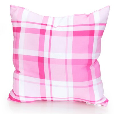 Plaid Outdoor Throw Pillow Size: 26 H x 26 W x 2 D, Color: Fuchsia