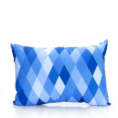 Harlequin Outdoor�Lumbar Pillow Color: Blue