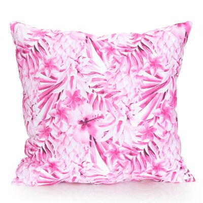 Tropical Pineapple Outdoor Throw Pillow Size: 26 H x 26 W x 2 D, Color: Fuchsia