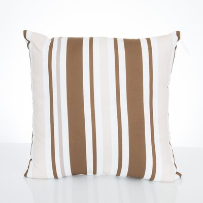 Vertical Stripe Outdoor Throw Pillow Size: 20 H x 20 W x 2 D, Color: Brown