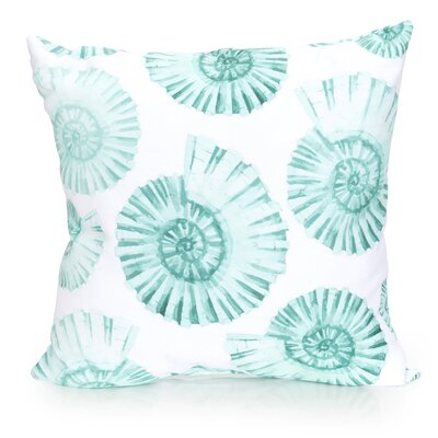 Nautilus Shell Outdoor Throw Pillow Size: 20 H x 20 W x 2 D, Color: Mint