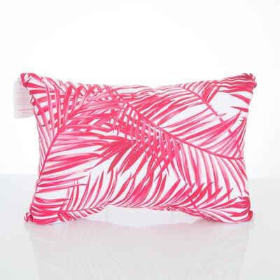 Palm Fronds Outdoor Lumbar Pillow Color: Fuchsia
