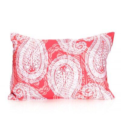 Paisley Outdoor Pillow Lumbar Pillow Color: Coral
