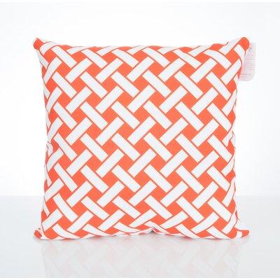 Lattice Outdoor Throw Pillow Size: 20 H x 20 W x 2 D, Color: Orange
