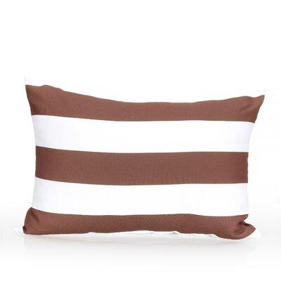 Cabana Stripe Outdoor Lumbar Pillow Color: Brown