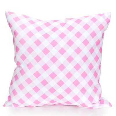 Check Plaid Outdoor Throw Pillow Size: 26 H x 26 W x 2 D, Color: Fuchsia