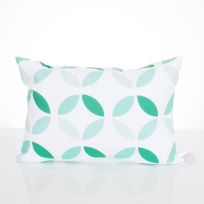 Mod Circles Outdoor Lumbar Pillow Color: Mint
