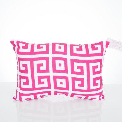 Greek Key Outdoor�Lumbar Pillow Color: Fuchsia