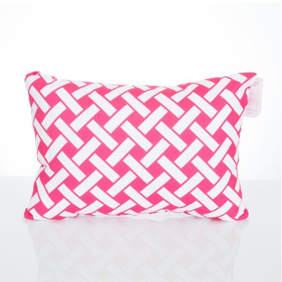 Lattice Outdoor Lumbar Pillow Color: Fuchsia