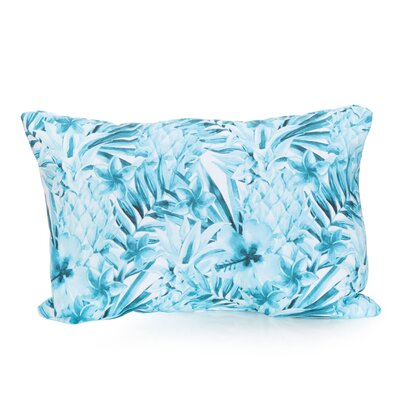 Tropical Pineapple Outdoor Lumbar Pillow Color: Turquoise