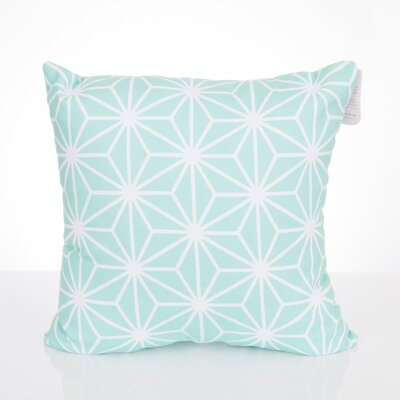 Twisted Kaleidoscope Outdoor Throw Pillow Size: 26 H x 26 W x 2 D, Color: Mint