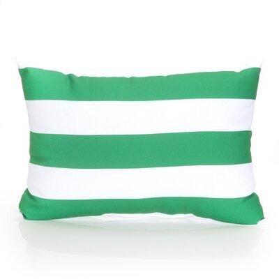 Cabana Stripe Outdoor Lumbar Pillow Color: Kelly Green
