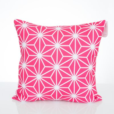 Twisted Kaleidoscope Outdoor Throw Pillow Size: 26 H x 26 W x 2 D, Color: Fuchsia