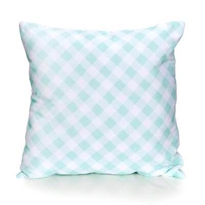 Check Plaid Outdoor Throw Pillow Size: 20 H x 20 W x 2 D, Color: Mint