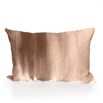 Ombre Watercolor Outdoor Lumbar Pillow Color: Brown