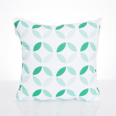 Mod Circles Outdoor Throw Pillow Size: 20 H x 20 W x 2 D, Color: Mint