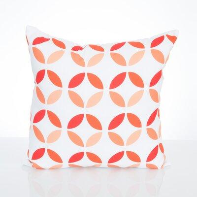 Mod Circles Outdoor Throw Pillow Size: 20 H x 20 W x 2 D, Color: Orange