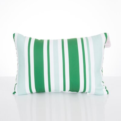 Vertical Stripe Outdoor Lumbar Pillow Color: Kelly Green