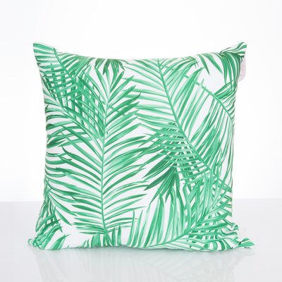 Palm Fronds Outdoor Throw Pillow Size: 26 H x 26 W x 2 D, Color: Kelly Green