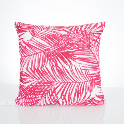 Palm Fronds Outdoor Throw Pillow Size: 26 H x 26 W x 2 D, Color: Fuchsia
