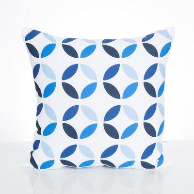 Mod Circles Outdoor Throw Pillow Size: 20 H x 20 W x 2 D, Color: Blue