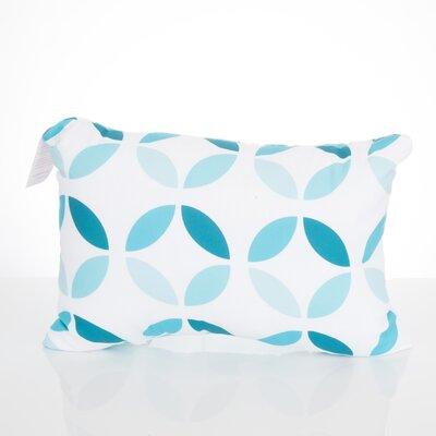 Mod Circles Outdoor Lumbar Pillow Color: Turquoise