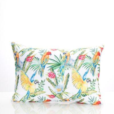 Tropical Parrot Outdoor Lumbar Pillow Color: Green/Yellow