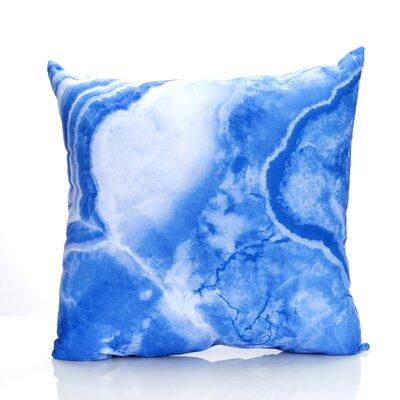 Quartz Outdoor Throw Pillow Size: 26 H x 26 W x 2 D, Color: Blue
