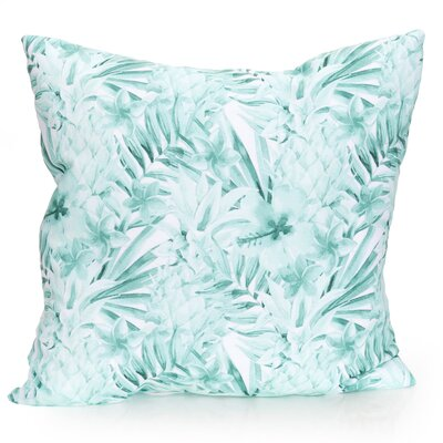 Tropical Pineapple Outdoor Throw Pillow Size: 26 H x 26 W x 2 D, Color: Mint