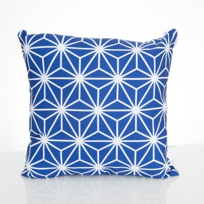 Twisted Kaleidoscope Outdoor Throw Pillow Size: 20 H x 20 W x 2 D, Color: Blue