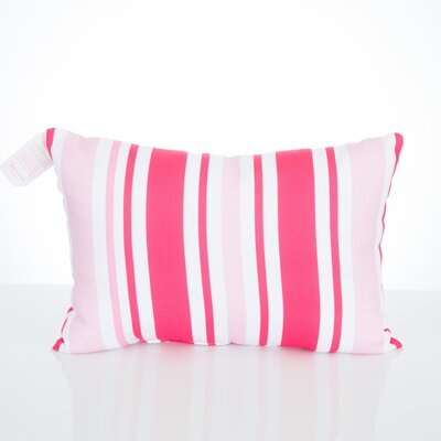 Vertical Stripe Outdoor Lumbar Pillow Color: Fuchsia