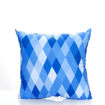Harlequin Outdoor Throw Pillow Color: Blue, Size: 26 H x 26 W x 2 D